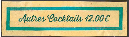 La Rhumerie, les autres cocktails
