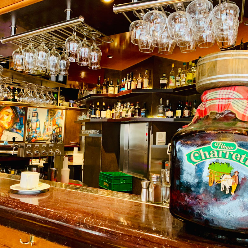 La Rhumerie, la carte du bar