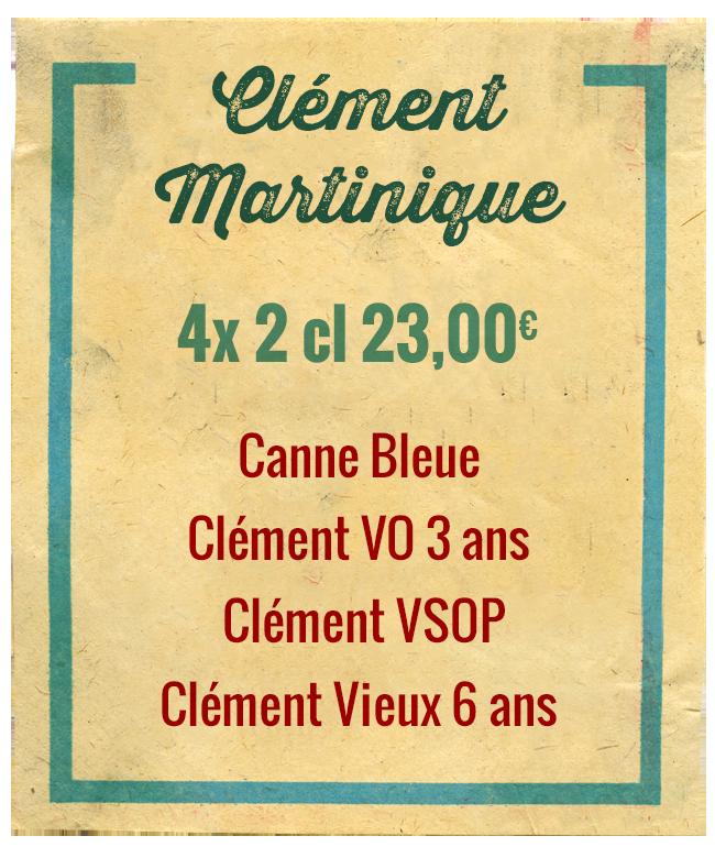 Planchette Clément Martinique, 4x 2cl 23,00€