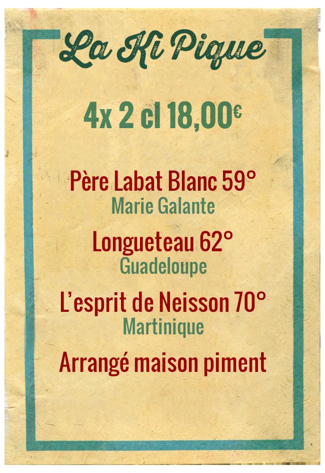 Planchette La Ki Pique, 4x 2cl 18,00€