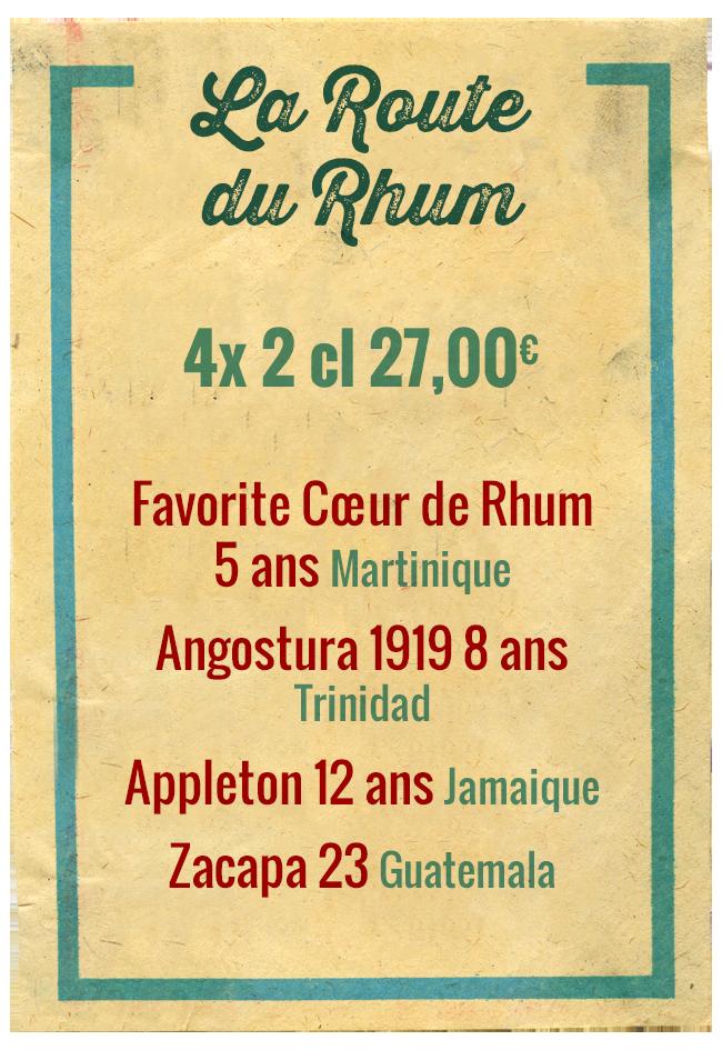 Planchette La Route des Rhums, 4x 2cl 27,00€