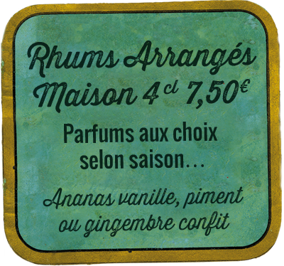 Rhums Arrangés Maison 4 cl 7,50€
